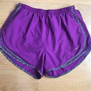 Nike dri fit shorts purple size large